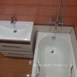 Ремонт ванной комнате работа №15